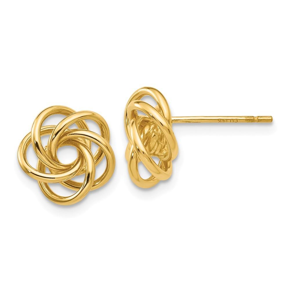 Love Knot Stud Earrings in 18k Gold - Earrings - Jewelry ...  Gold Love Knot Earrings