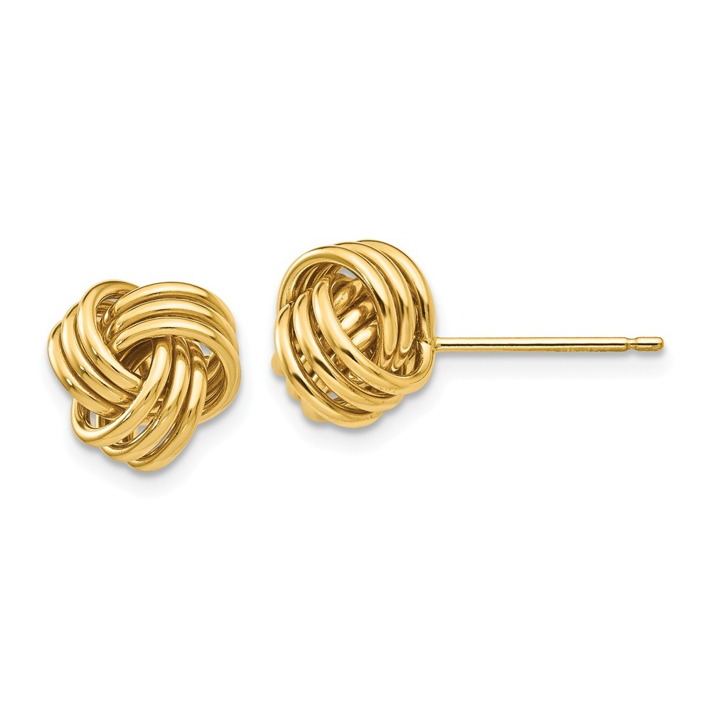 Anzor Jewelry - Gold Love Knot Stud Earrings Solid 14k Gold  Gold Love Knot Earrings
