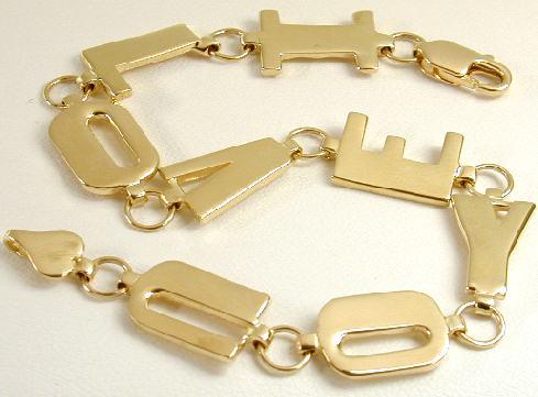 I LOVE YOU Link Bracelet