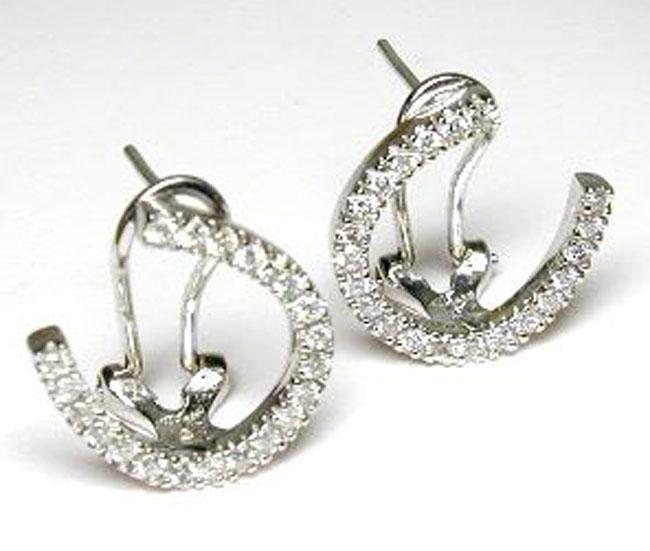 Stunning Diamond Horseshoe Earrings