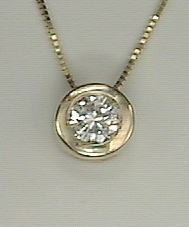 1/4 ct Diamond Bezel Pendant