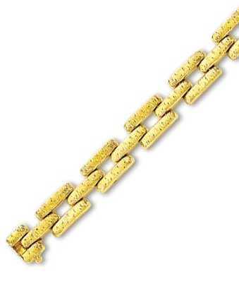14k Yellow Elegant Fancy Design Bracelet - 7.25 Inch