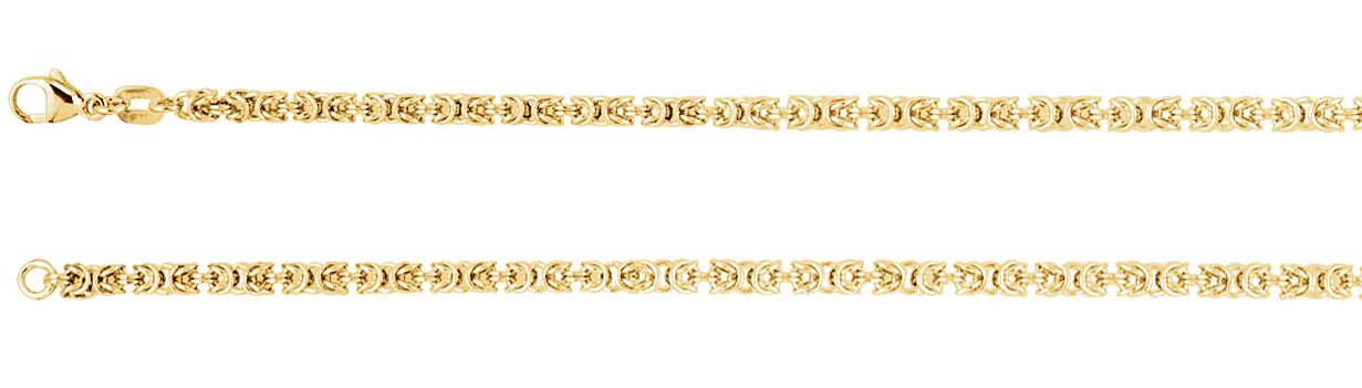 Jewelryweb 14k Yellow Gold Solid Byzantine Chain Bracelet 7 Inch at Sears.com