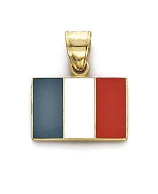 Jewelryweb 14k Enamel Ireland Flag Pendant