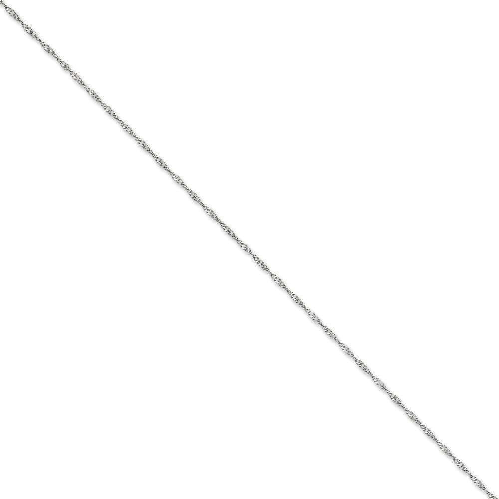 Jewelryweb 14k White Gold 1.7mm Singapore Chain Bracelet - 8 Inch at Sears.com