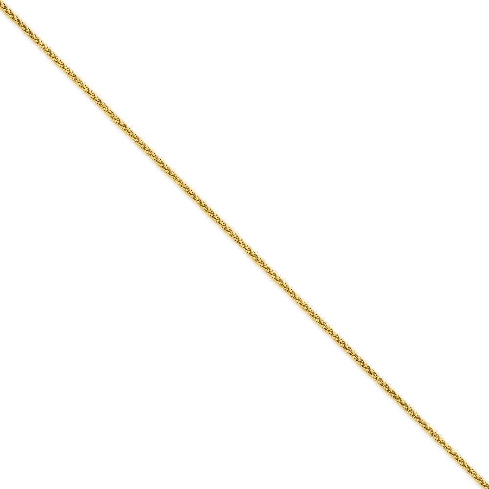 Jewelryweb 14k Gold 1.9mm Round Wheat Chain Ankle Bracelet - 10 Inch