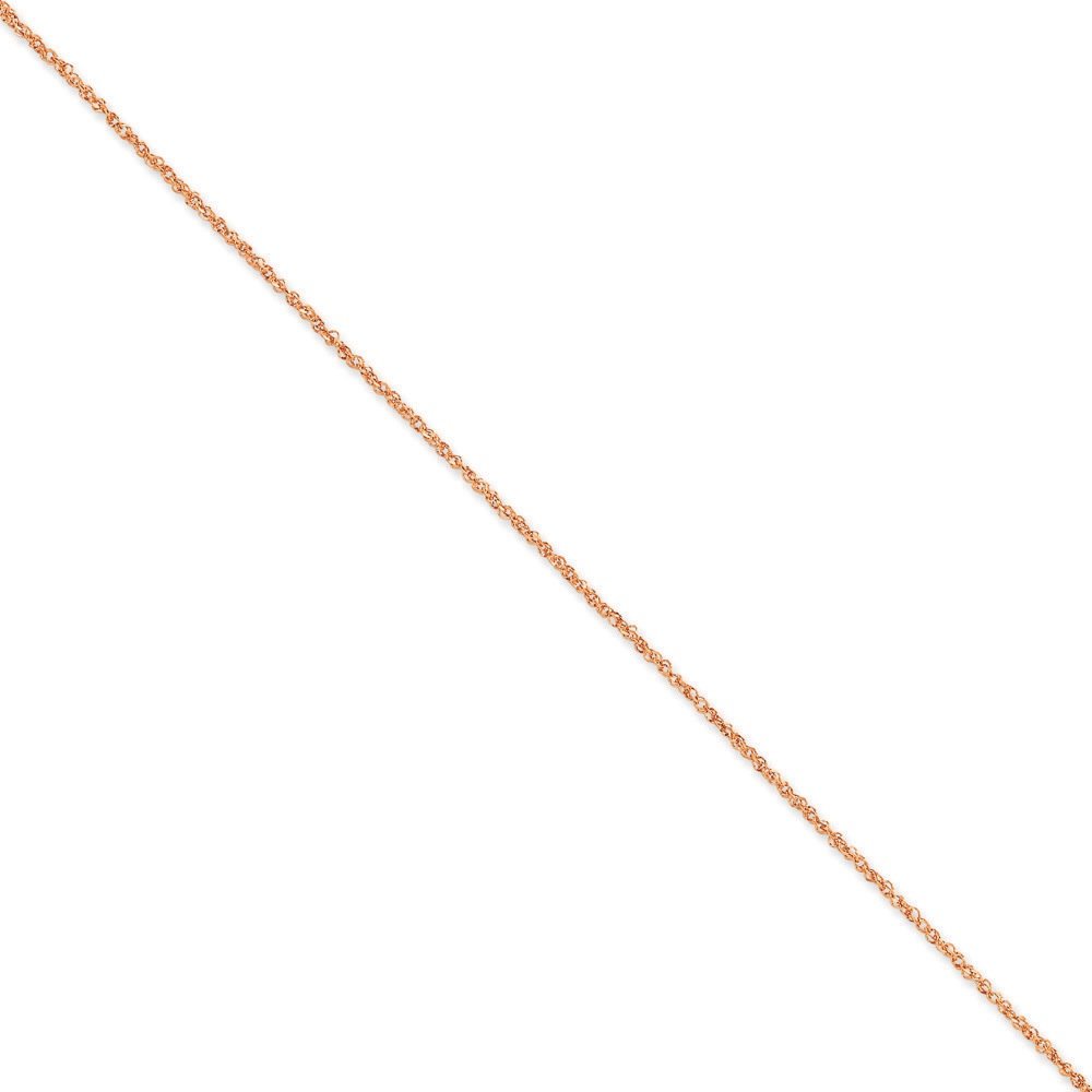 Jewelryweb 14K Rose Gold 1.7mm Ropa Chain Ankle Bracelet - 10 Inch at Sears.com