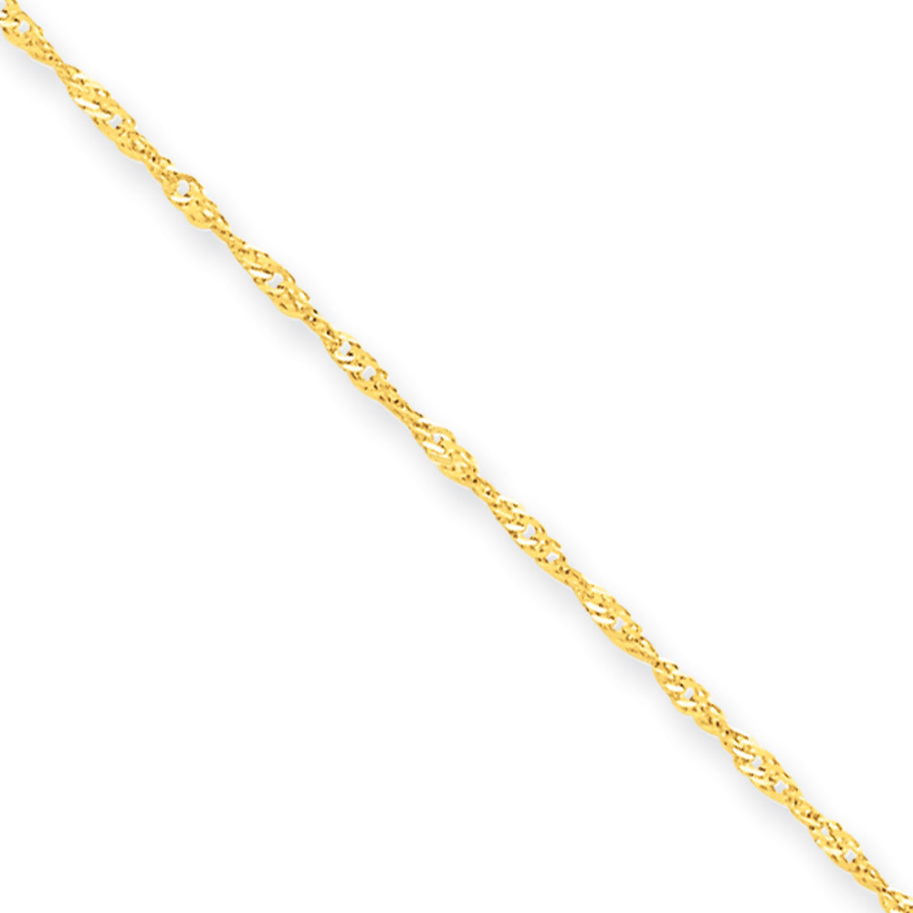 Jewelryweb 10k 1.10mm Singapore Chain Bracelet - 7 Inch at Sears.com