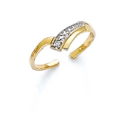Jewelryweb 14k Rough Diamond V Shape Toe Ring at Sears.com