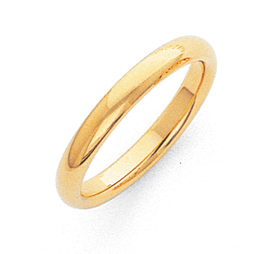 Jewelryweb 10k 3mm Comfort-Fit Band Ring - Size 10 at Sears.com