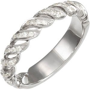 Jewelryweb 14k White Gold Bridal Engagement Ring Anniversary Band 1/5ct at Sears.com