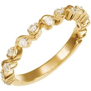 Jewelryweb 14k Yellow Gold Bridal Engagement Ring Anniversary Band 1/4ct at Sears.com