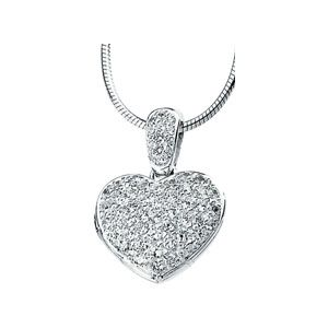 Jewelryweb Sterling Silver CZ Heart Locket Necklace at Sears.com