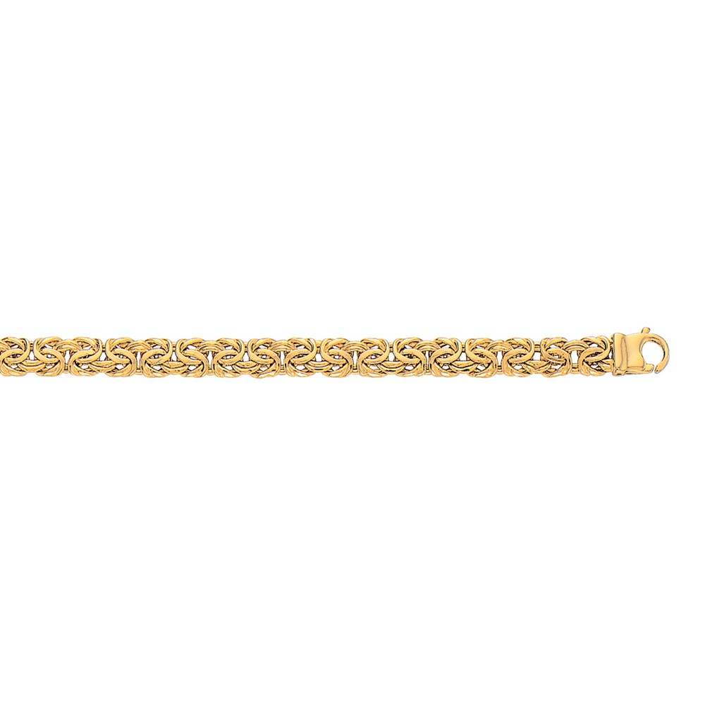 Jewelryweb 10k Gold Yellow 7.25 Inch 7mm Lite Byzantine Bracelet at Sears.com