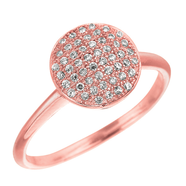 Jewelryweb Sterling Silver CZ Rhodium Rose Gold Plated Plated Engagement Style Ring - Size 6 at Sears.com