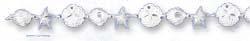 Jewelryweb 7.5 Inch D-Cut Scallop Shell StarFish Sanddollar Bracelet