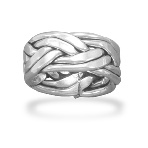Jewelryweb Oxidized Double Row Braided Ring In Womens Sizes Oxidized Sterling Silver Double Row Braided Band at Sears.com