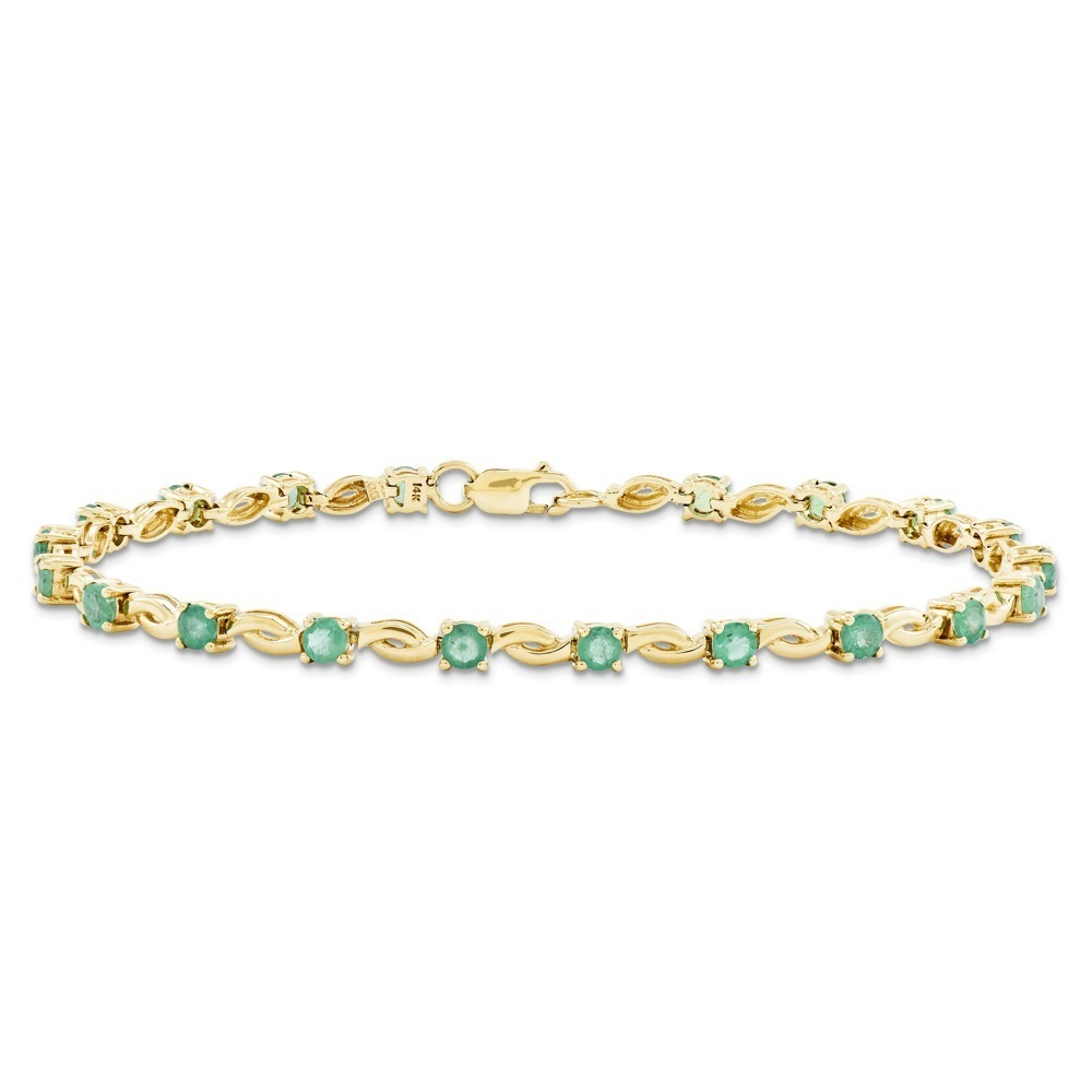 Jewelryweb 14k Emerald Round Bracelet at Sears.com