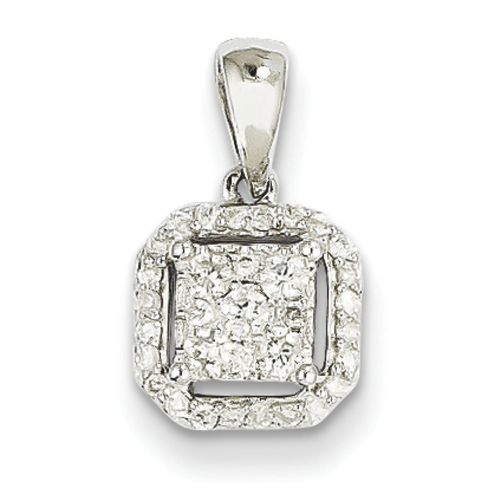 Jewelryweb 14k White Gold Diamond Square Pendant at Sears.com