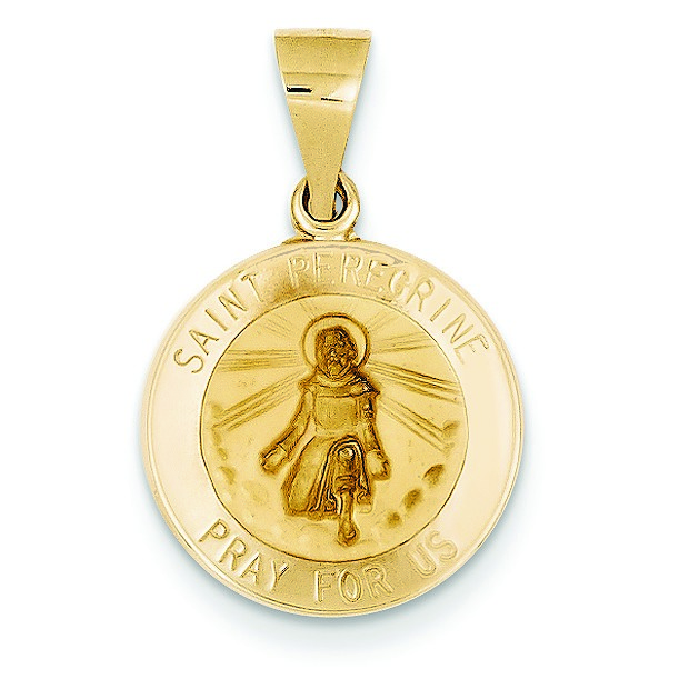 Jewelryweb 14k Polished and Satin St. Peregrine Medal Pendant at Sears.com