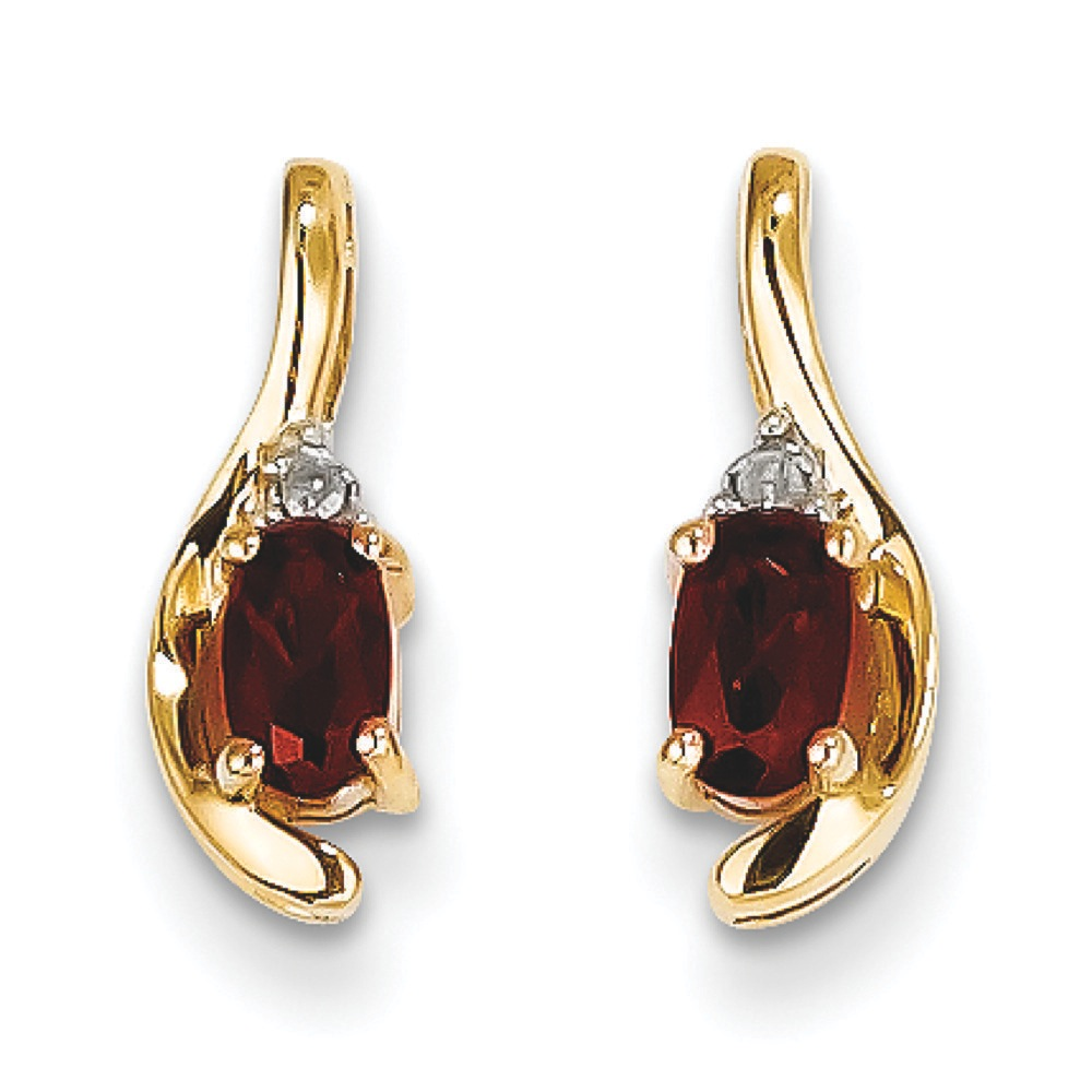 Jewelryweb 14k Rough Diamond and Garnet Earrings at Sears.com