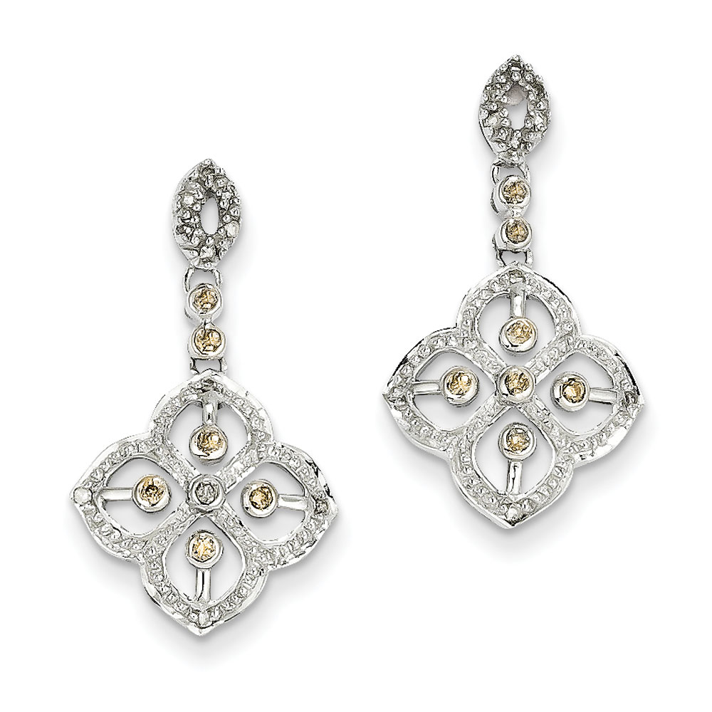 Jewelryweb 14k White Gold Champagne Diamond Post Earrings at Sears.com