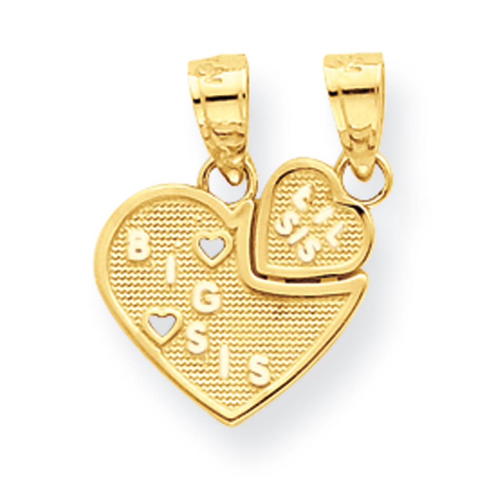 Jewelryweb 10k Big Sis Lil Sis Break-apart Heart Charm at Sears.com