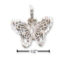 Sterling Silver Small DC Filigree Butterfly Charm