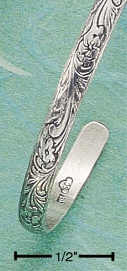 Jewelryweb Sterling Silver Scrolled Antiqued Narrow Cuff at Sears.com