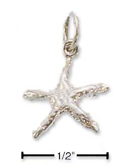 Sterling Silver Small Starfish Charm