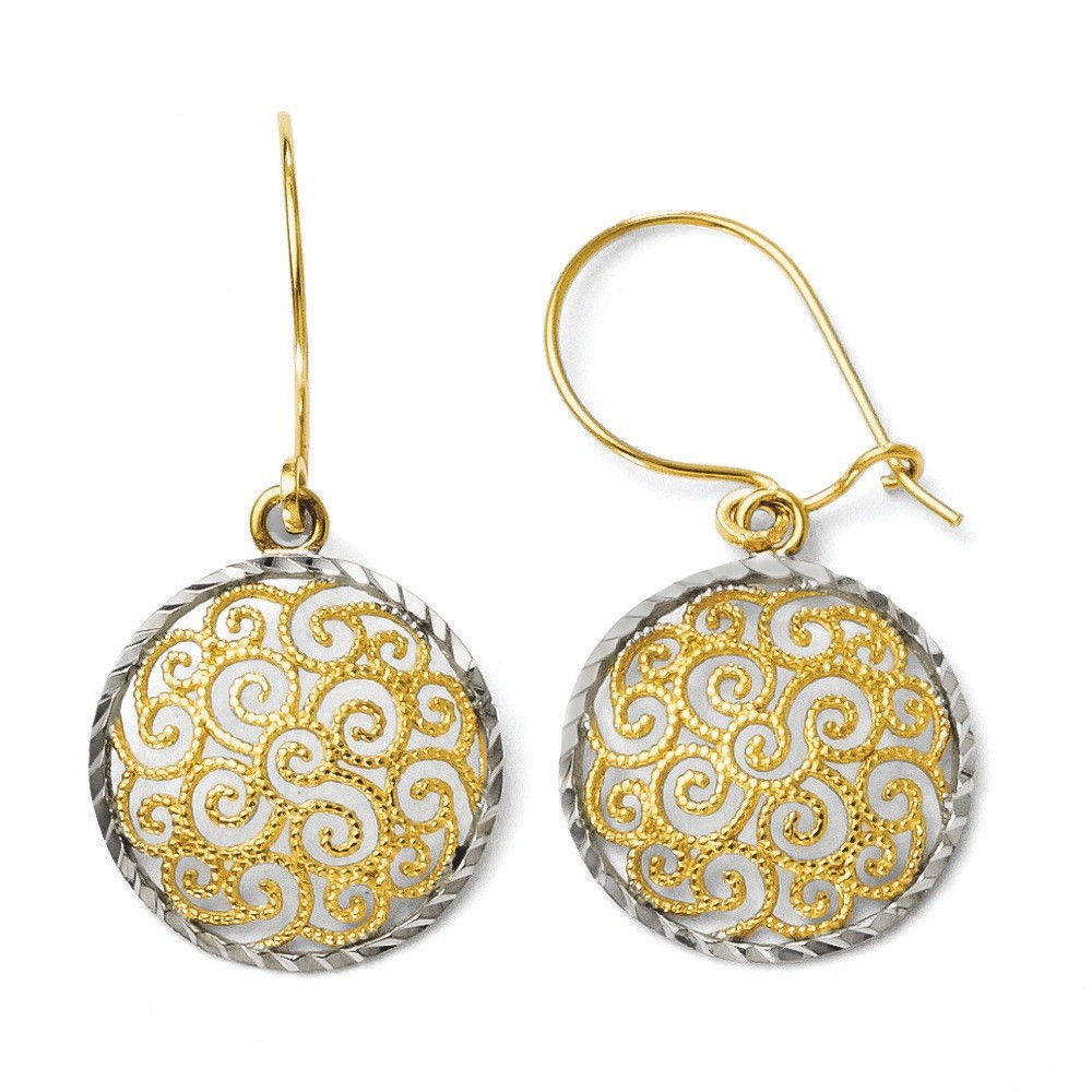 Jewelryweb 14k Two-tone Filigree Dangle Earrings at Sears.com