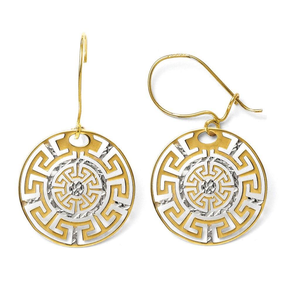 Jewelryweb 14k Two-tone Greek Key Dangle Earrings at Sears.com