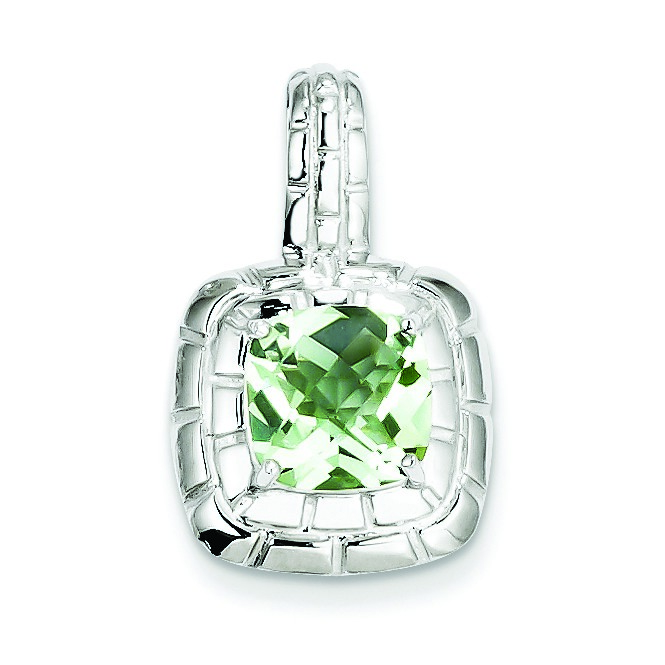 Jewelryweb Sterling Silver Green Quartz Pendant at Sears.com