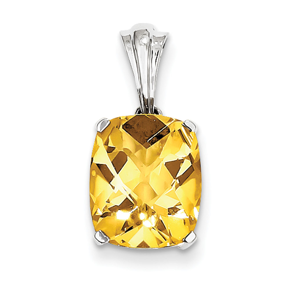 Jewelryweb Sterling Silver With Citrine Oval Pendant at Sears.com