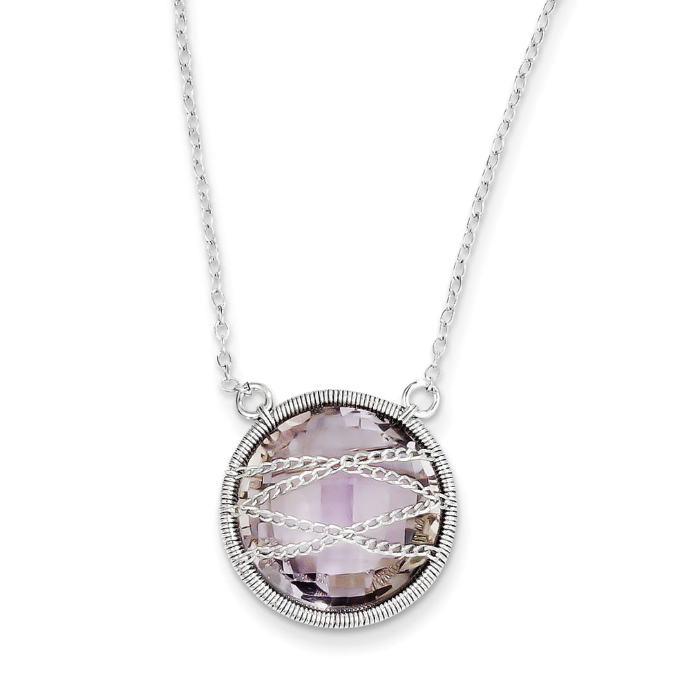 Jewelryweb Sterling Silver Amethyst Necklace - 18 Inchchain With 1.5 Inch Extender at Sears.com
