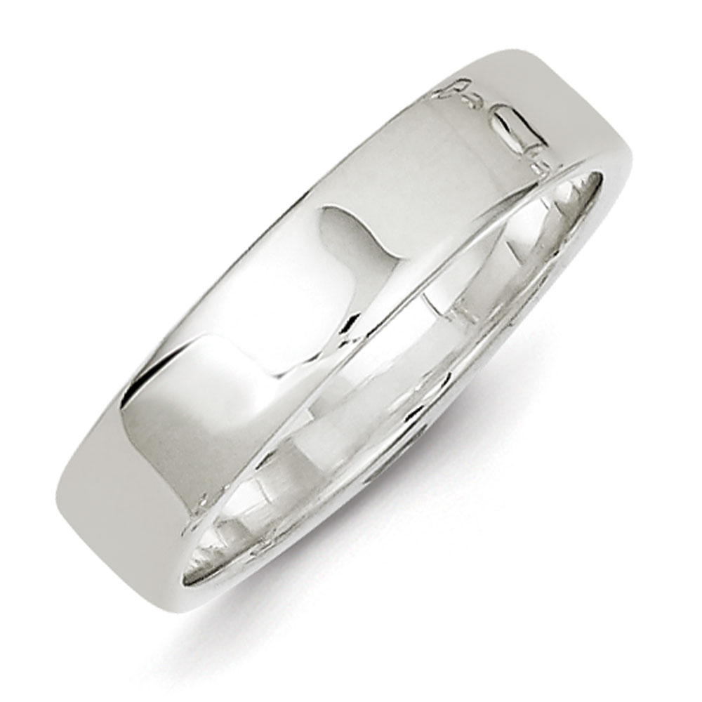 Jewelryweb Sterling Silver 5mm Flat Band - Size 6 at Sears.com