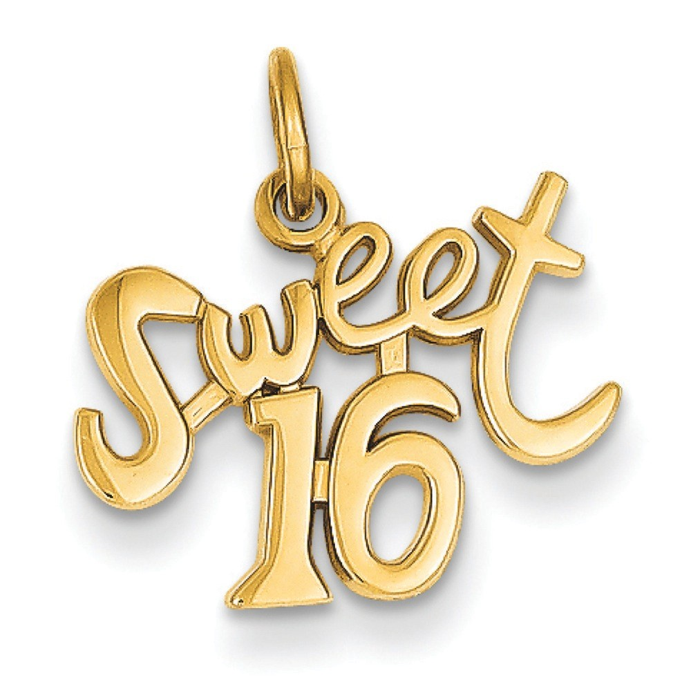 Jewelryweb 14k Sweet 16 Charm - Measures 18.8x17.4mm at Sears.com