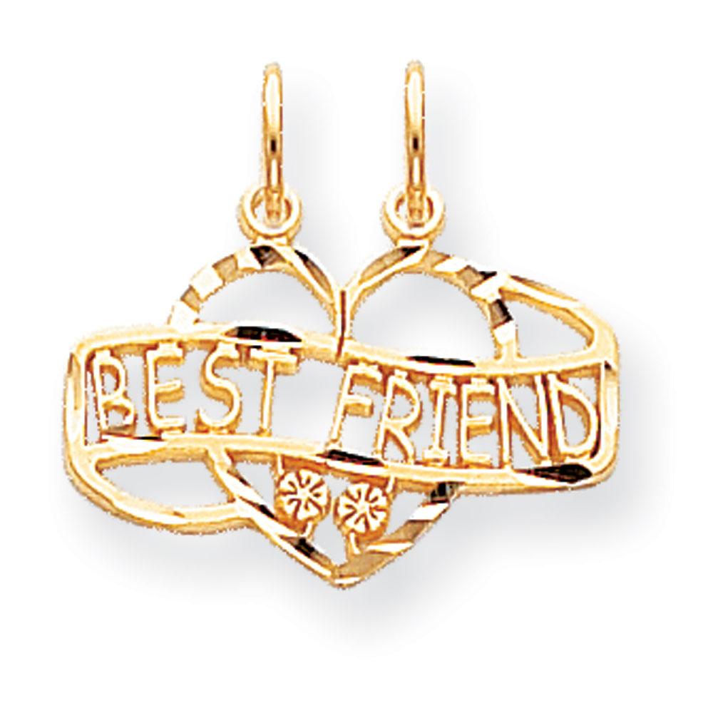 Jewelryweb 10k BEST FRIEND BREAK APART Charm at Sears.com