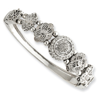Jewelryweb 10k White Gold 7.5 Inch CaBangle Bracelet - Removable Clasp at Sears.com
