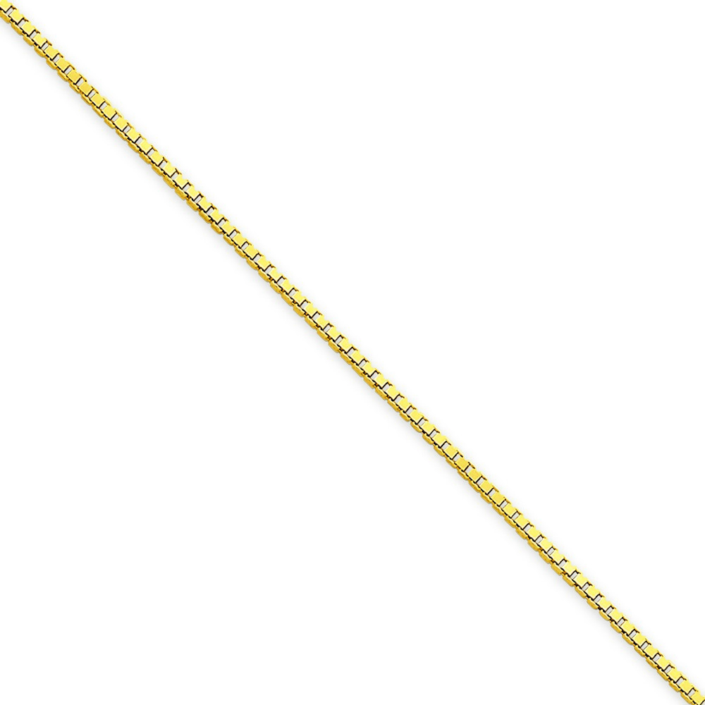 Jewelryweb 14k Gold 1.25mm Box Chain Anklet - 9 Inch - Lobster Claw