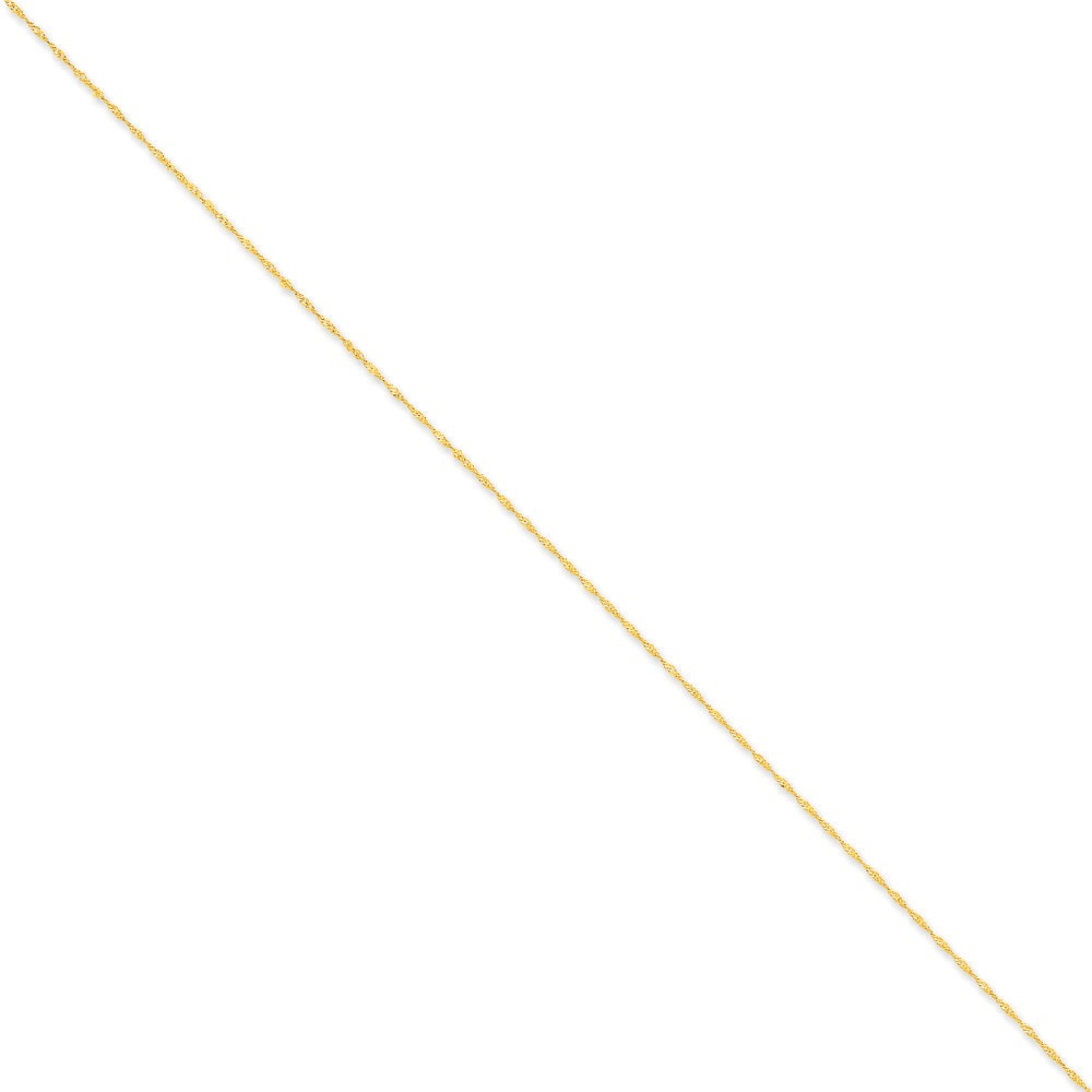 Jewelryweb 14k 1mm Singapore Chain Bracelet - 7 Inch - Spring Ring at Sears.com