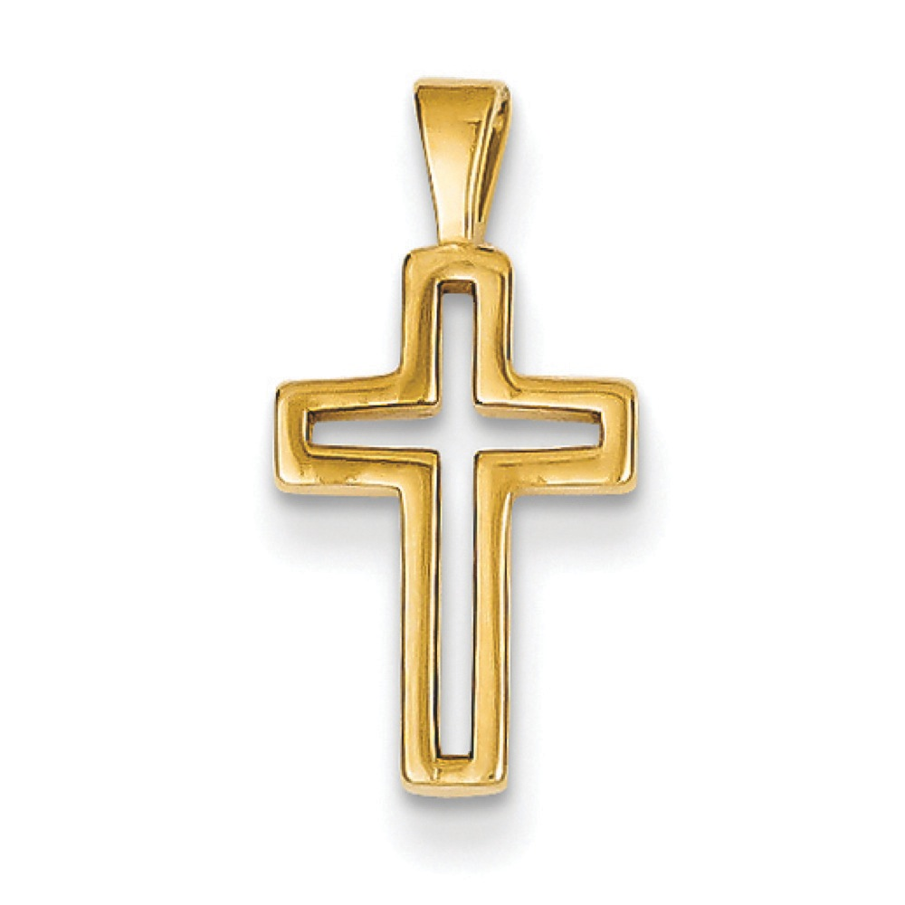 Jewelryweb 14k Cross Charm - Measures 19x9mm at Sears.com