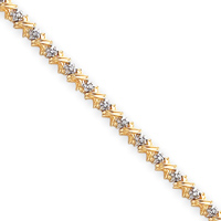 Jewelryweb 14k Rough Diamond Xs Tennis Bracelet - 7 Inch - Box Clasp at Sears.com