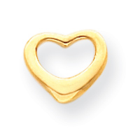 Jewelryweb 14k Floating Heart Pendant With Child Chain - 15 Inch - Measures 8x10mm