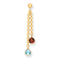 Jewelryweb 14k Garnet and Blue Topaz Dangle Earrings at Sears.com