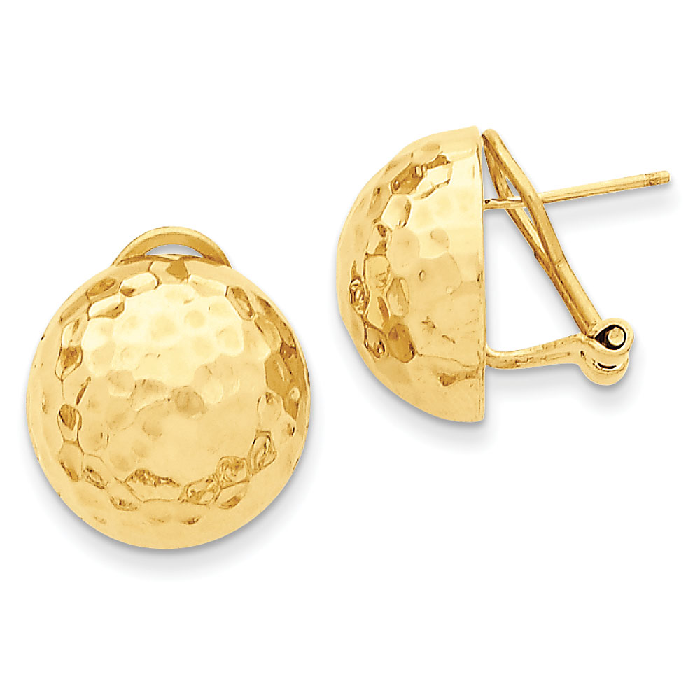 Jewelryweb 14k Hammered Omega Back Post Earrings at Sears.com