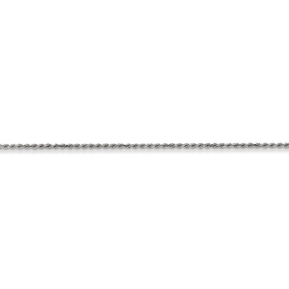 Jewelryweb 14k White Gold 1.40mm Solid D-Cut Rope Chain - 16 Inch - Lobster Claw at Sears.com