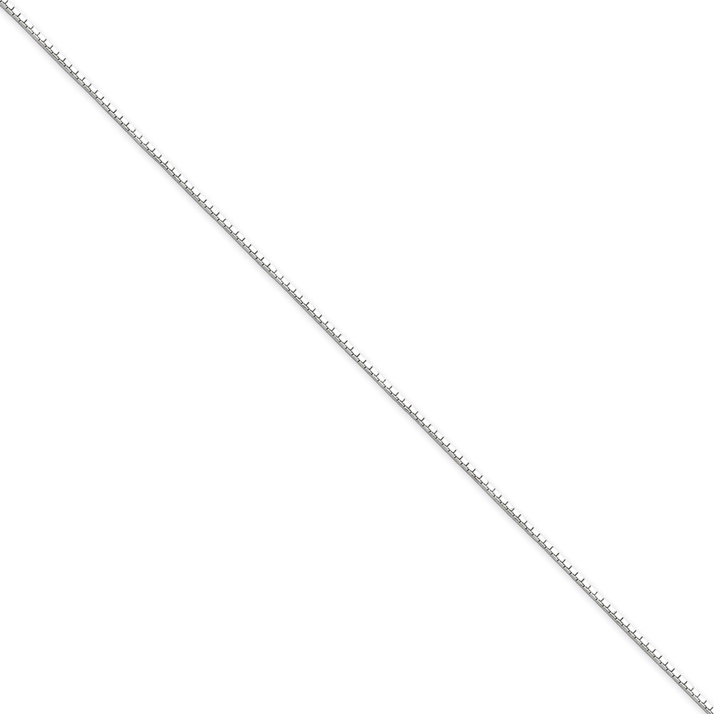 Jewelryweb Sterling Silver .9mm 8 Side D-Cut Mirror Box Chain - 24 Inch - Spring Ring