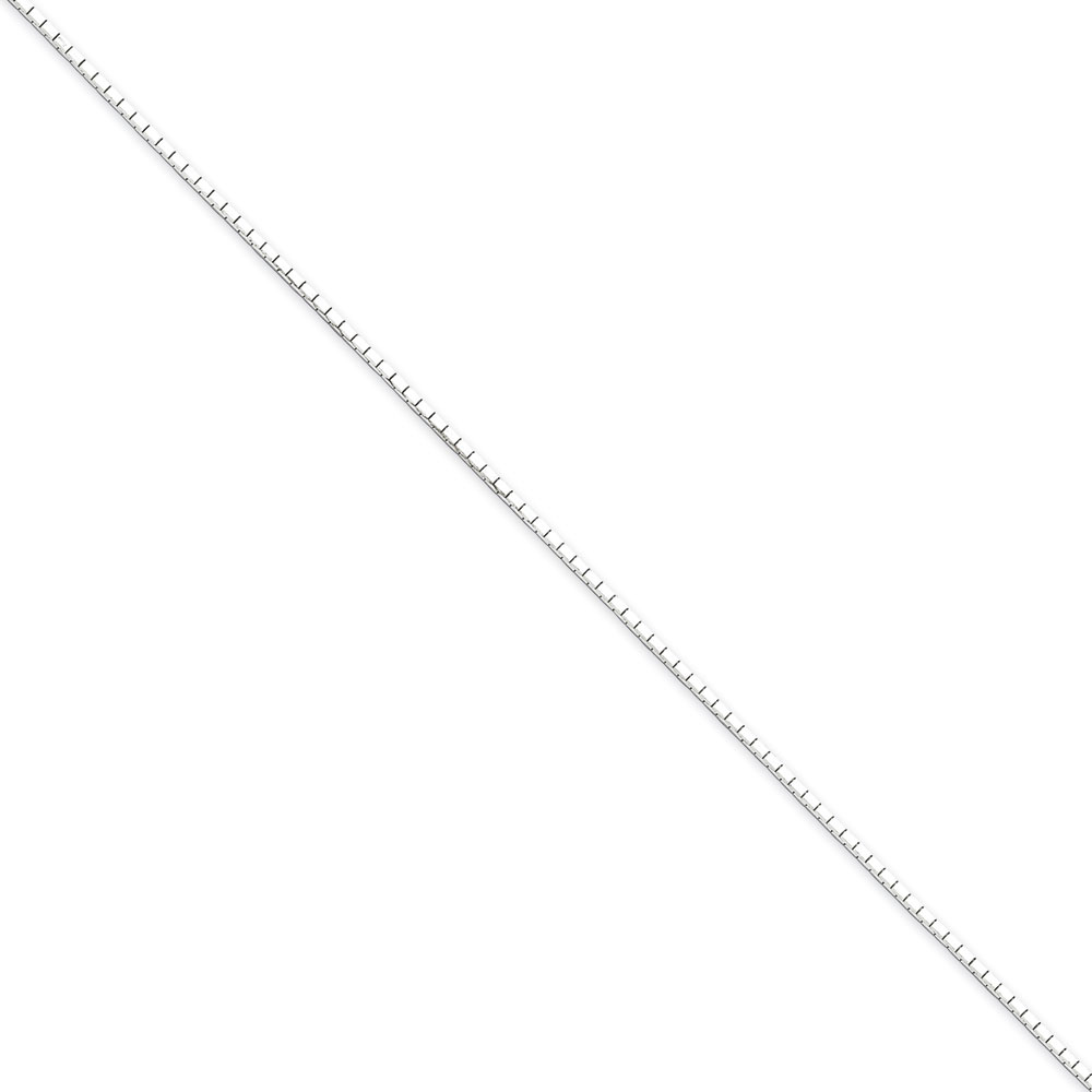 Jewelryweb Sterling Silver 1.2mm 8 Side D-Cut Mirror Box Chain 24 Inch - Spring Ring