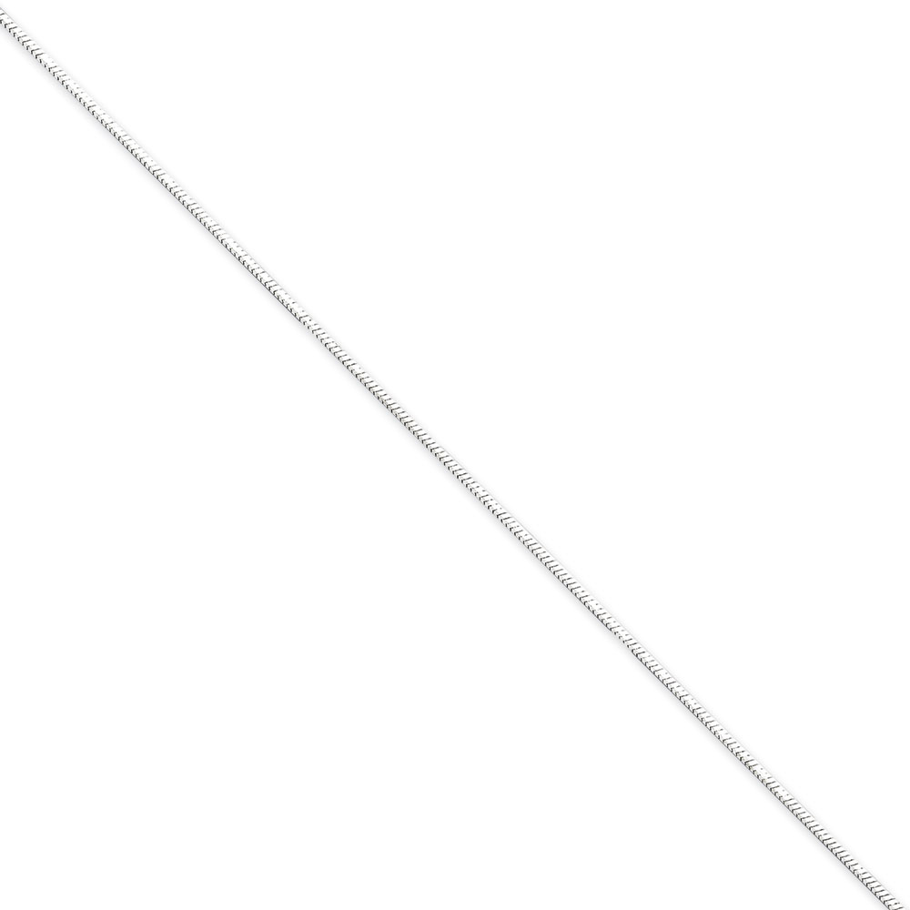 Jewelryweb Sterling Silver 1.5mm D-Cut Flat Snake Chain - 24 Inch - Lobster Claw